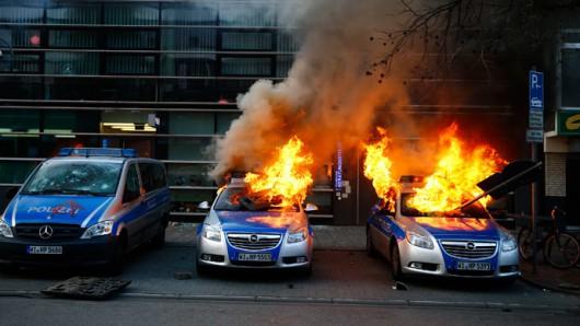 Niemcy - Ponad 200 osób zostało rannych podczas protestów we Frankfurcie nad Menem 1