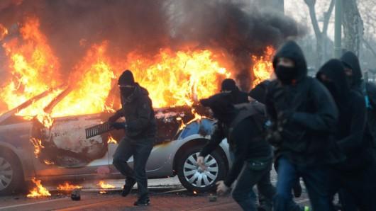 Niemcy - Ponad 200 osób zostało rannych podczas protestów we Frankfurcie nad Menem 2