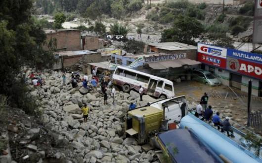 Peru - Lawiny błotne zabiły już 9 osób
