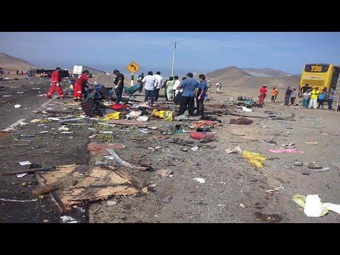 Peru - Na autostradzie zderzyły się dwa autobusy i ciężarówka, zginęło 37 osób 4