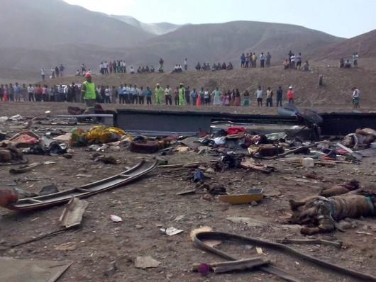 Peru - Na autostradzie zderzyły się dwa autobusy i ciężarówka, zginęło 37 osób 5