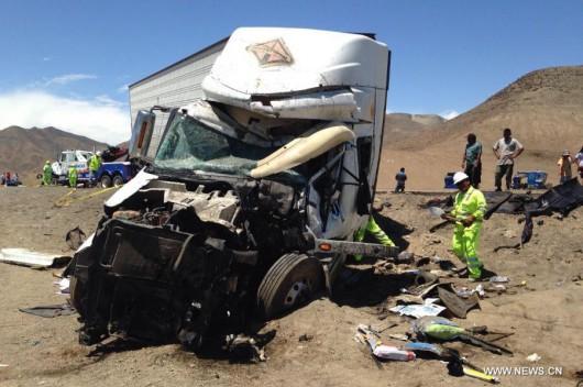 Peru - Na autostradzie zderzyły się dwa autobusy i ciężarówka, zginęło 37 osób 6