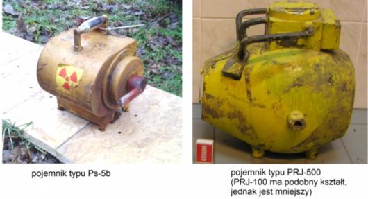 Skradzione pojemniki z kobaltem mają podobny kształt do tych przedstawionych na zdjęciach /Państwowa Agencja Atomistyki /