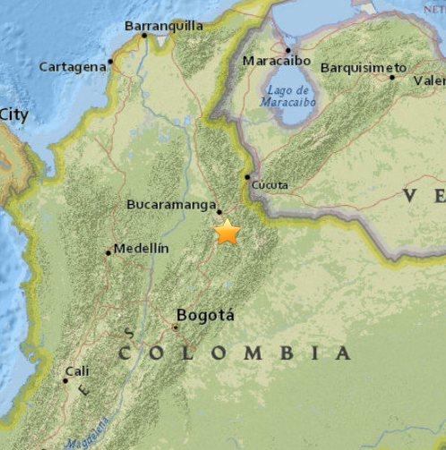 Trzęsienie ziemi w Kolumbii