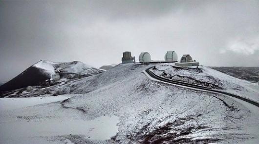 USA - Na Hawajach spadł śnieg 3