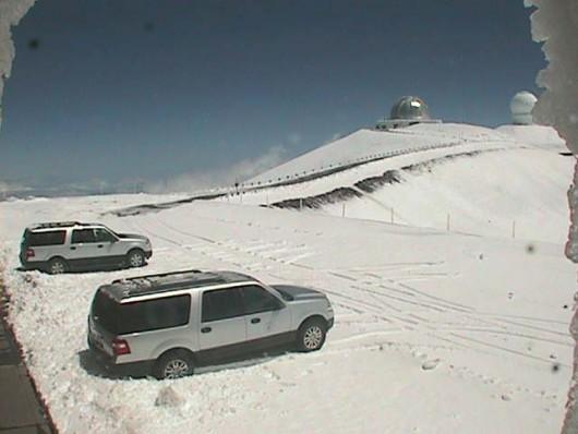 USA - Na Hawajach spadł śnieg