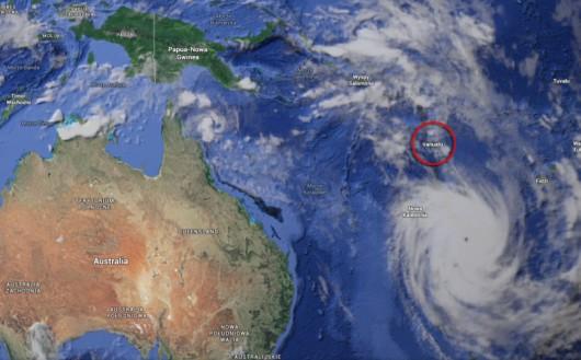 Vanuatu - państwo w Oceanii (SIO//NOA/US Navy/NGA/GEBCO/Landstad)