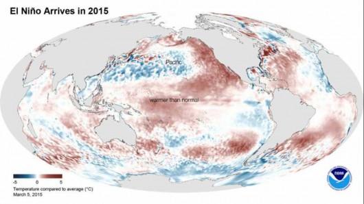 Wzrosła temperatura wody w Pacyfiku, pojawiło się El Nino
