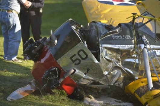"""Znany aktor, który był jedyną osobą na pokładzie samolotu doznał """"umiarkowanych obrażeń"""" /STUART PALLEY /EPA"""