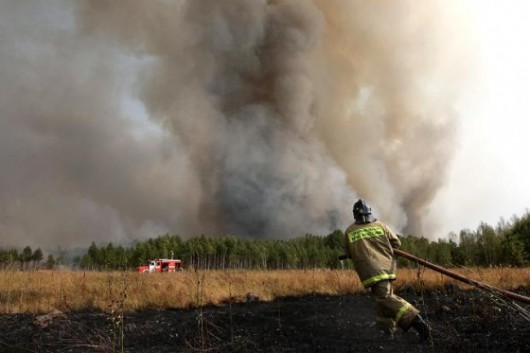 Czarnobyl, Ukraina - Pożar lasu udało się ugasić zaledwie pięć kilometrów od miejsca składowania odpadów radioaktywnych 2