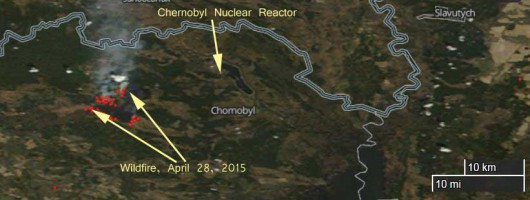 Czarnobyl, Ukraina - Pożar lasu udało się ugasić zaledwie pięć kilometrów od miejsca składowania odpadów radioaktywnych 3
