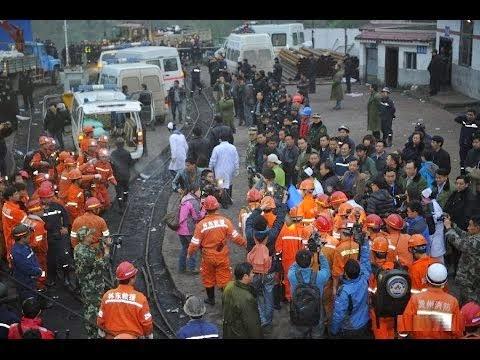 Datong, Chiny - Powódź w kopalni węgla Jiangjiawan 2