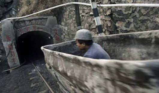 Datong, Chiny - Powódź w kopalni węgla Jiangjiawan