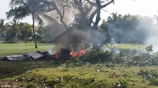 Dominikana - Niewielki samolot rozbił się na polu golfowym 2