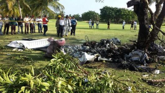 Dominikana - Niewielki samolot rozbił się na polu golfowym 4