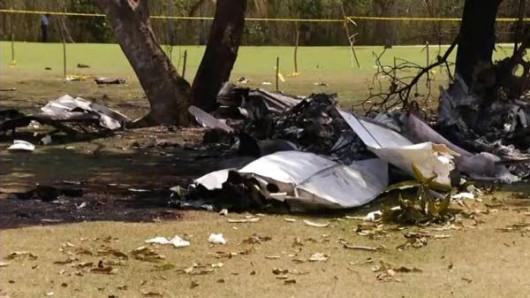 Dominikana - Niewielki samolot rozbił się na polu golfowym
