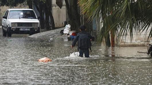 Izrael - Ulewny deszcz