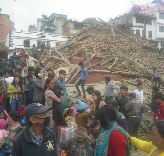 Katmandu, Nepal - Bardzo silne trzęsienie ziemi, magnituda 7.9 w skali Richtera 12