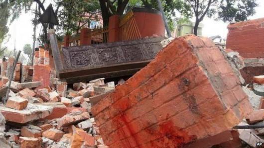 Katmandu, Nepal - Bardzo silne trzęsienie ziemi, magnituda 7.9 w skali Richtera 14