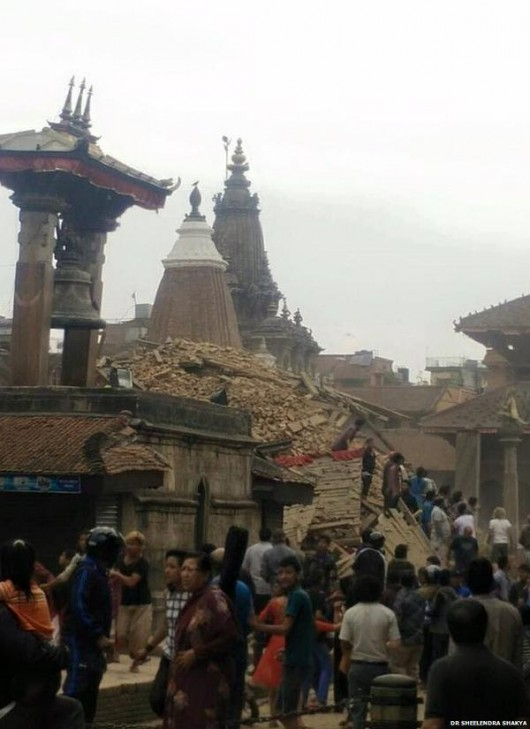 Katmandu, Nepal - Bardzo silne trzęsienie ziemi, magnituda 7.9 w skali Richtera 15