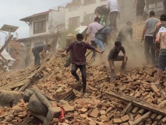 Katmandu, Nepal - Bardzo silne trzęsienie ziemi, magnituda 7.9 w skali Richtera 25