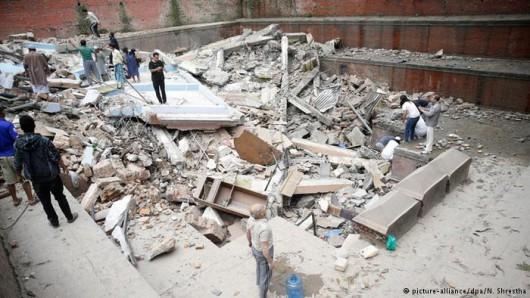 Katmandu, Nepal - Bardzo silne trzęsienie ziemi, magnituda 7.9 w skali Richtera 26