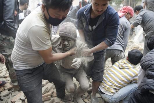 Katmandu, Nepal - Bardzo silne trzęsienie ziemi, magnituda 7.9 w skali Richtera 3