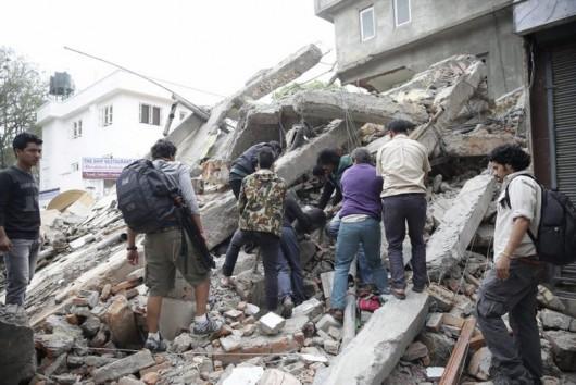 Katmandu, Nepal - Bardzo silne trzęsienie ziemi, magnituda 7.9 w skali Richtera 4