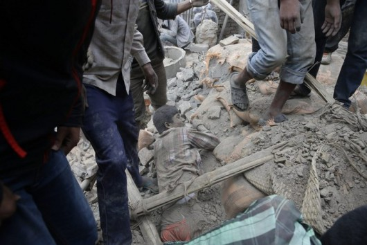 Katmandu, Nepal - Bardzo silne trzęsienie ziemi, magnituda 7.9 w skali Richtera 7