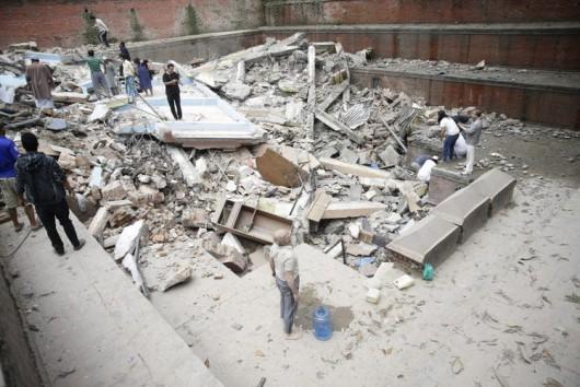 Katmandu, Nepal - Bardzo silne trzęsienie ziemi, magnituda 7.9 w skali Richtera 9