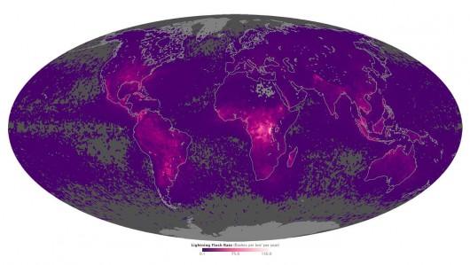 Mapa wyładowań atmosferycznych
