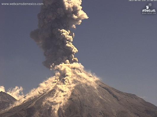 Meksyk - Cztery erupcje wulkanu Colima w sześć godzin 1