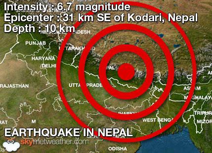 Nepal - Kolejne trzęsienie ziemi, magnituda 6.7 3