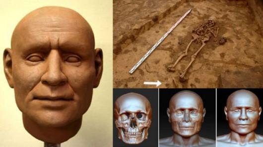 Polska - Na podstawie czaszki zrekonstruowano rysy twarzy wojownika z epoki brązu 2