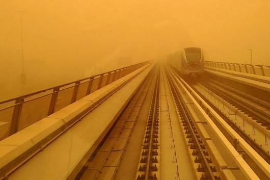 Potężna burza piaskowa na Półwyspie Arabskim 2
