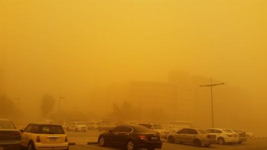 Potężna burza piaskowa na Półwyspie Arabskim 3