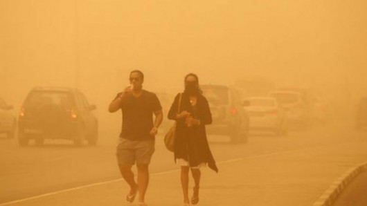 Potężna burza piaskowa na Półwyspie Arabskim 4