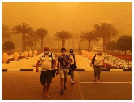 Potężna burza piaskowa na Półwyspie Arabskim 5