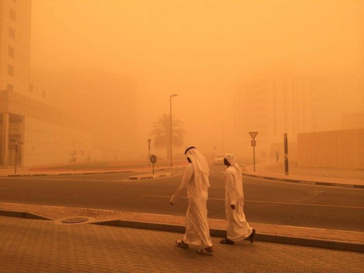 Potężna burza piaskowa na Półwyspie Arabskim 8