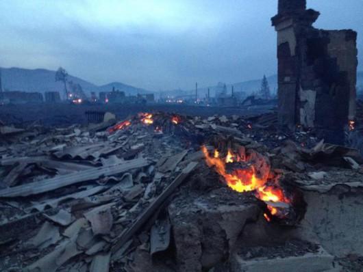 Rosja - Ogromne pożary na Syberii, w 38 miejscowościach spłonęło ponad 1200 domów 3