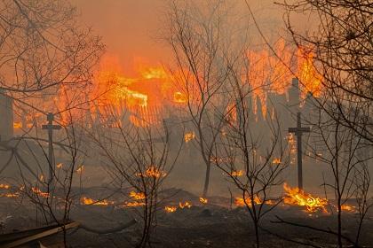 Rosja - Ogromne pożary na Syberii, w 38 miejscowościach spłonęło ponad 1200 domów 4