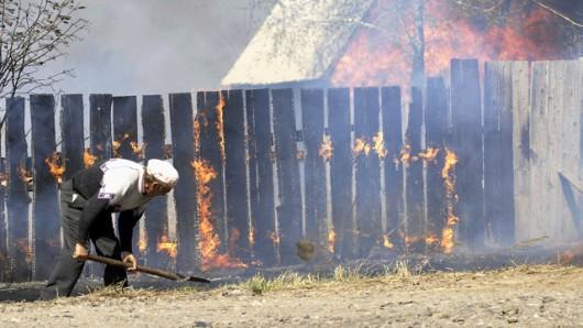 Rosja - Ogromne pożary na Syberii, w 38 miejscowościach spłonęło ponad 1200 domów 5