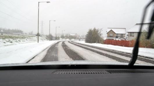 Szkocja - Wróciła zima, najpierw spadły 2 cm gradu, później śnieg i mróz 2