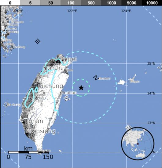 Trzęsienie ziemi - Tajwan