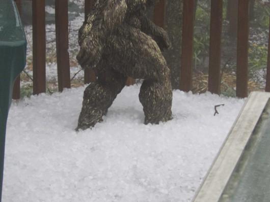 USA - Ulewny deszcz 60 lmkw w ciągu 30 minut i grad wielkości piłek golfowych 3
