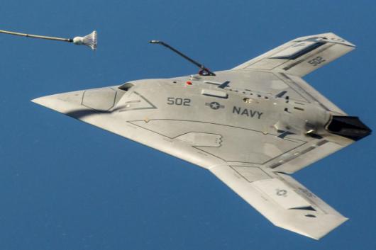 X-47B uzupełnił paliwo w powietrzu
