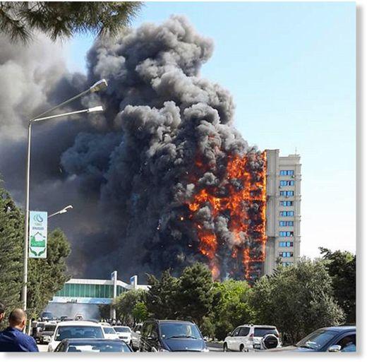Azerbejdżan, Baku - Potężny pożar wieżowca, 16 osób zginęło 5