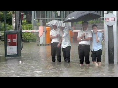 Chiny - W 15 godzin spadło 115 litrów deszczu na metr kwadratowy 2