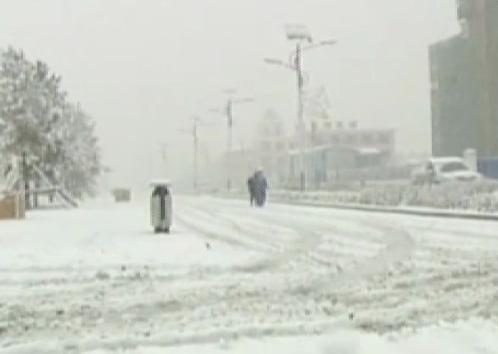 Chiny - W kilka godzin wiosna zamieniła się w zimę 3