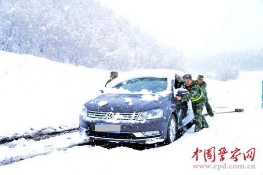 Chiny - W kilka godzin wiosna zamieniła się w zimę 4